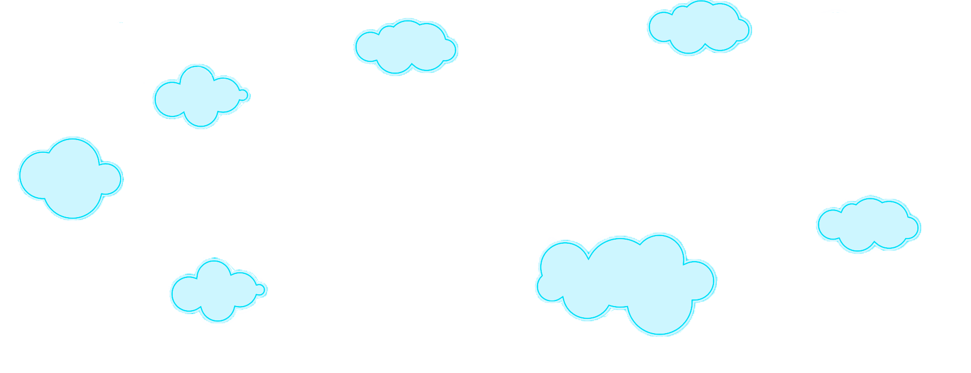 cartoon image of the clouds